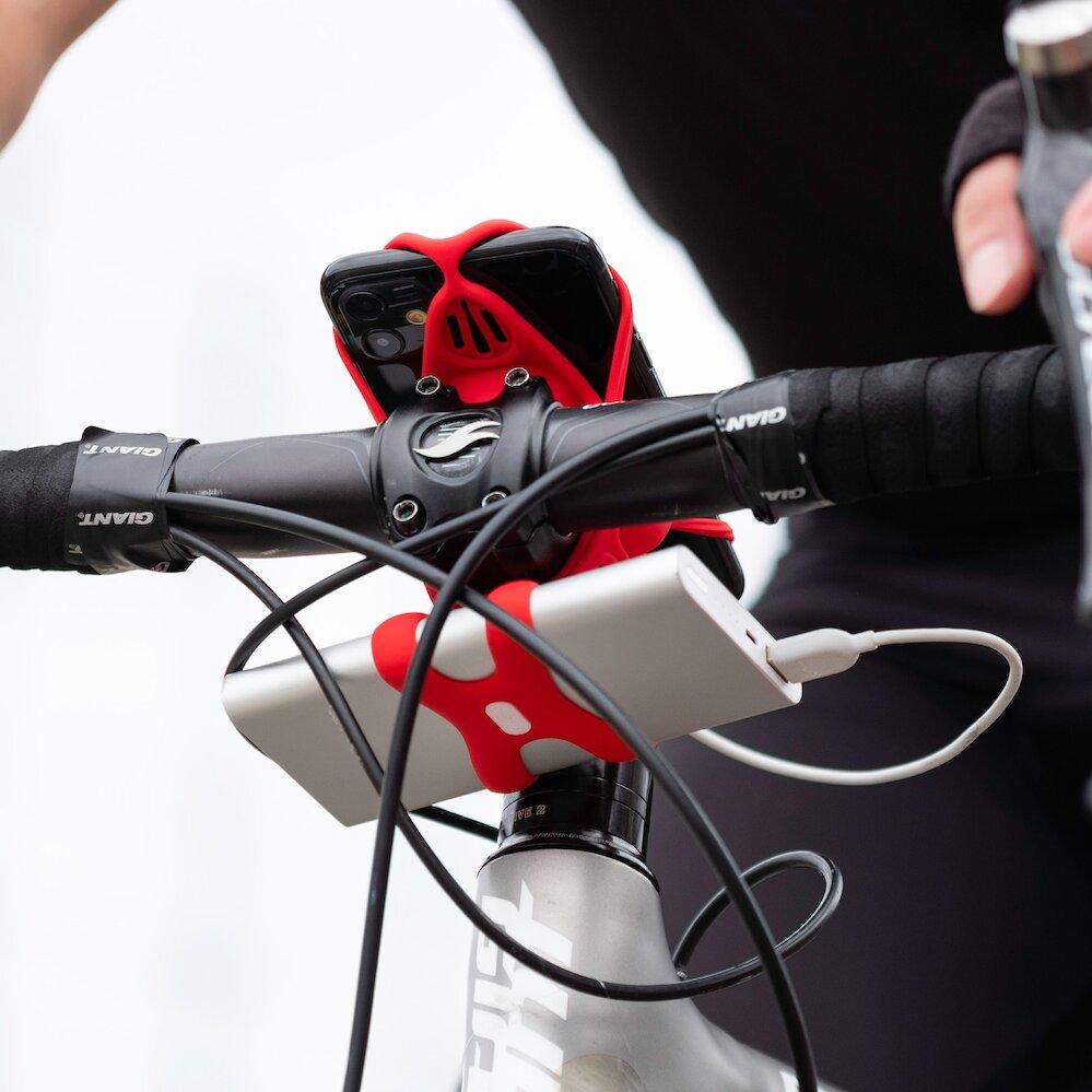 【Bone】單車手機綁Pro 4 + 電源綁 (套組) - 紅色