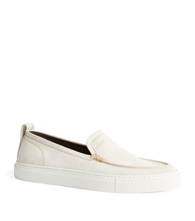 Brioni Suede Slip-On Sneakers