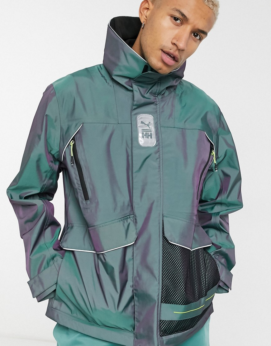 Puma x Helly Hansen waterproof tech jacket in blue