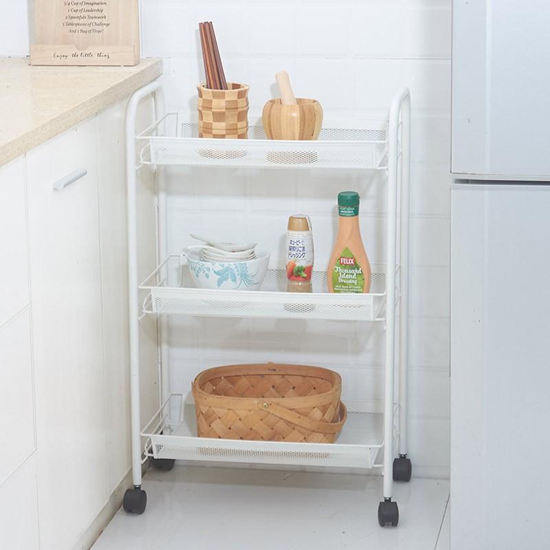 可移動廚房整理帶輪置物架客廳臥室床頭收納層架子小推車%限時秒殺%