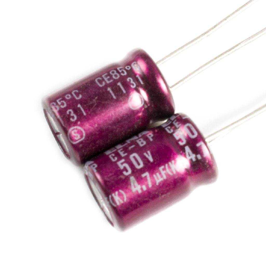 現成貨* 5pcs,ELNA SILMIC BP雙極性系列50V 4.7uF 85C非極性電容器8X12mm
