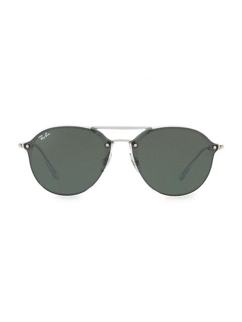 RB4292 62MM Blaze Double-Bridge Round Sunglasses