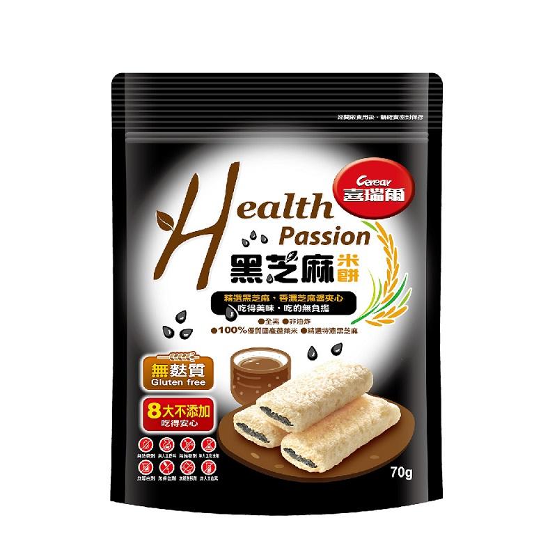 喜瑞爾Health Passion黑芝麻米餅70g
