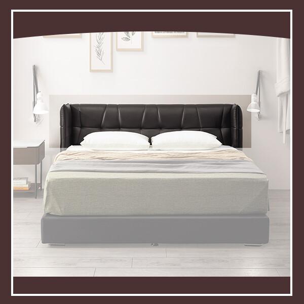 安德魯5尺床頭片(黑皮) 21195002001
