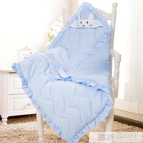 純棉秋冬加厚嬰兒抱被 新生兒包被初生春秋被子 包巾裹布花邊報被 夏季新品