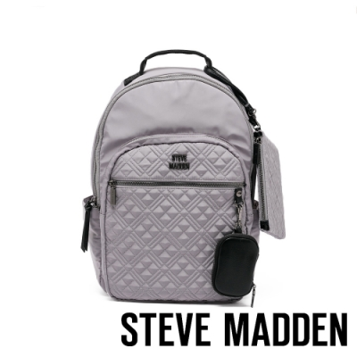 STEVE MADDEN-BGOWDY 菱格造型多收納輕量後背包-灰色
