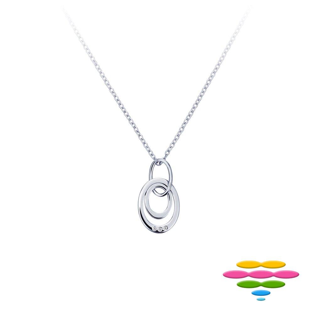 Caramelo 彩糖鑽工坊 幸運雙環鑽石項鍊  10K 輕珠寶