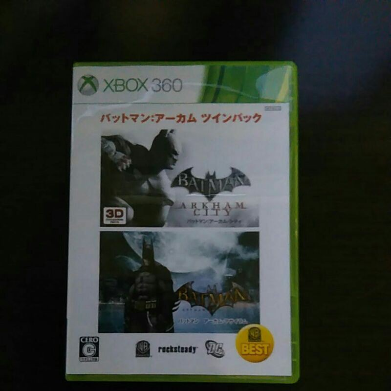 Xbox360遊戲片蝙蝠俠合輯日文版無刮