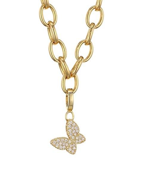 Princess Charms 18K Yellow Gold & Diamond Butterfly Charm