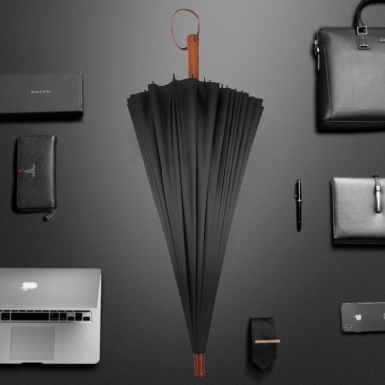 【快速出貨】雨傘長柄男士大號24骨雨傘晴雨兩用雙人復古直桿自動商務超大傘s 聖誕交換禮物