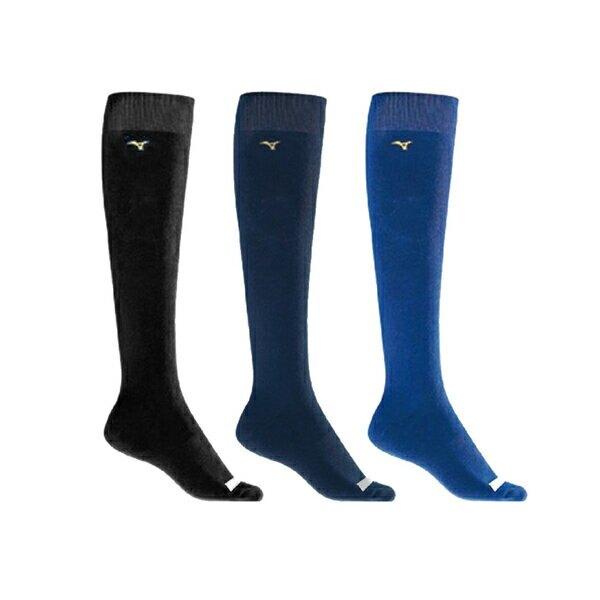 Mizuno Sock [12TX0U0314Q] 長統襪 棒壘襪 少年 背號窗 毛巾底 耐磨 舒適 運動 訓練 深藍