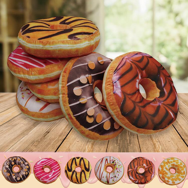 indian3d創意立體坐墊-甜甜圈(隨機出貨)