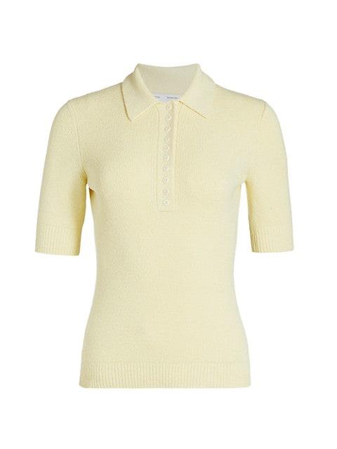 Boucle Short-Sleeve Polo