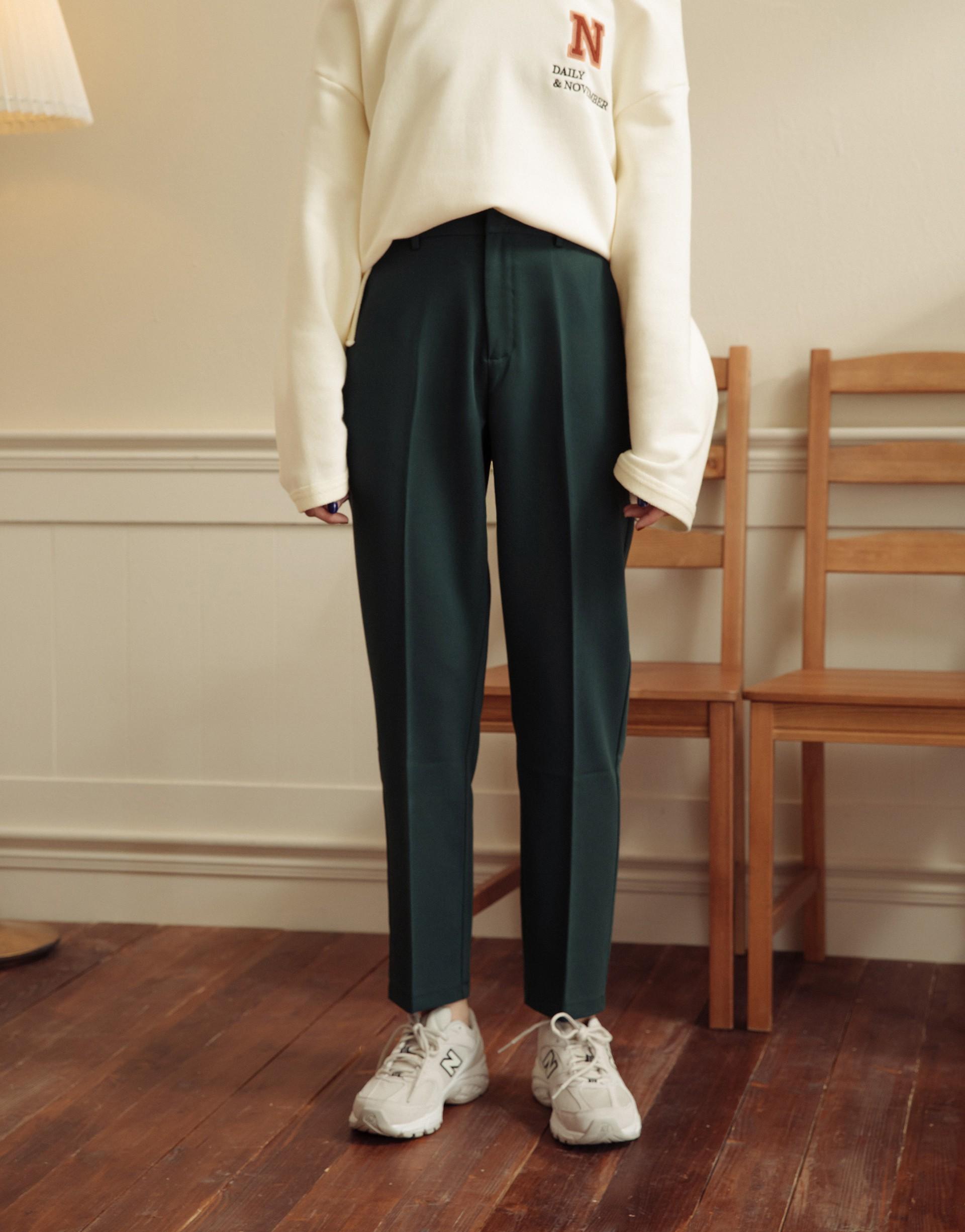 簡約俐落顯瘦西裝長褲-PAZZO
