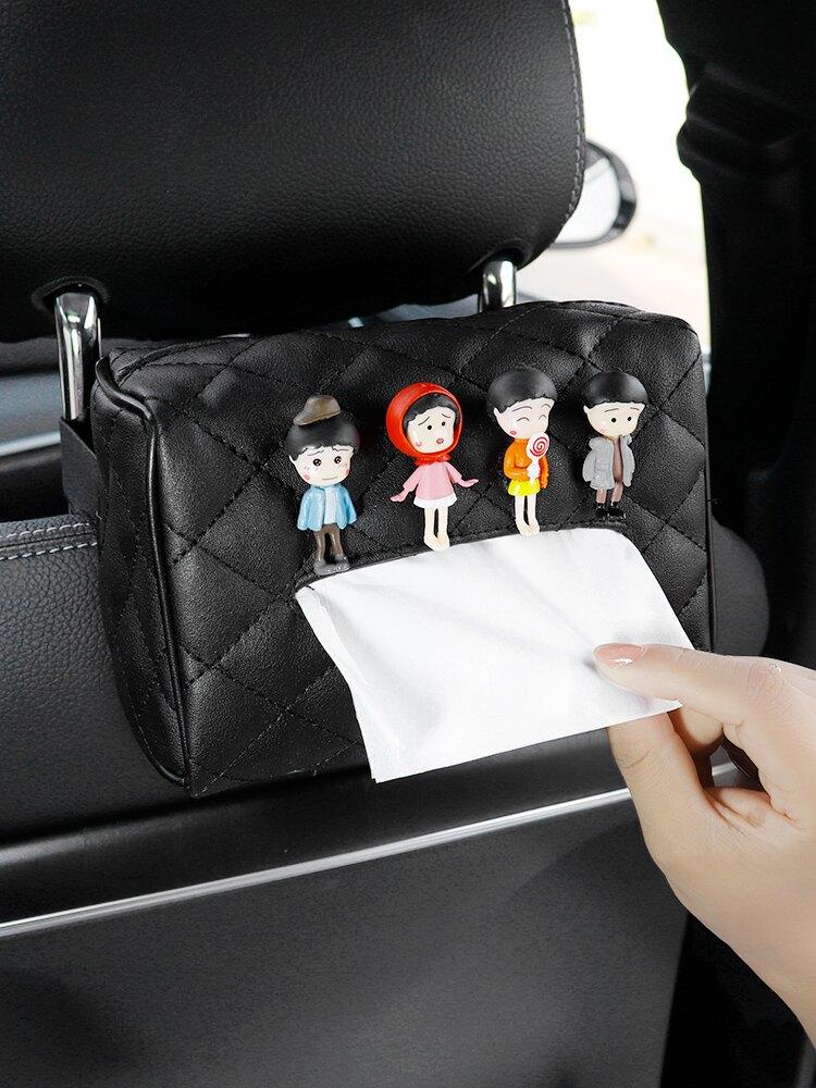 車載抽紙盒創意汽車抽紙袋餐巾紙盒車用掛式遮陽板扶手箱紙巾盒