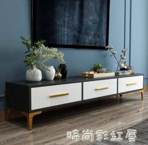 北歐電視櫃茶幾組合套裝現代簡約小戶型客廳臥室輕奢後現代電視櫃yh