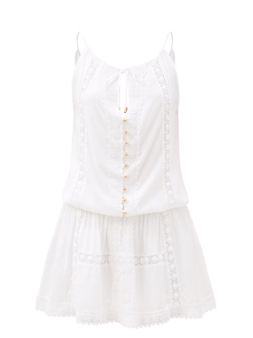 Melissa Odabash - Chelsea Broderie-anglaise Mini Dress - Womens - White
