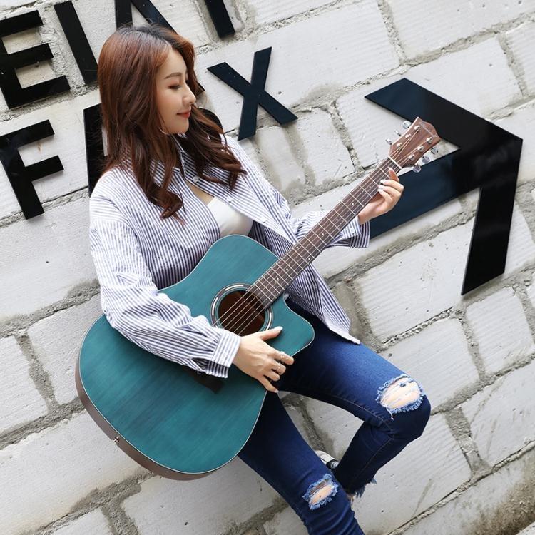 吉他 單板吉他初學者女學生男新手入門自學民謠40寸41寸木吉他樂器T【全館免運 限時鉅惠】