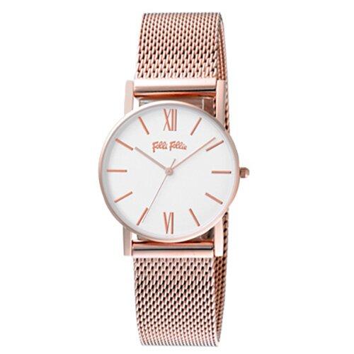 Folli Follie 浪漫氣質米蘭腕錶-玫瑰金 WF17R015BSS-XX