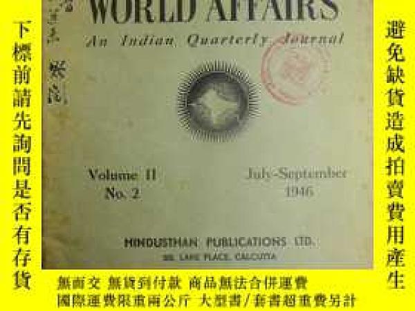 二手書博民逛書店INDIA罕見AND WORLD AFFAIRS AN INDIA QUARTERLY JOURNAL VOL.2