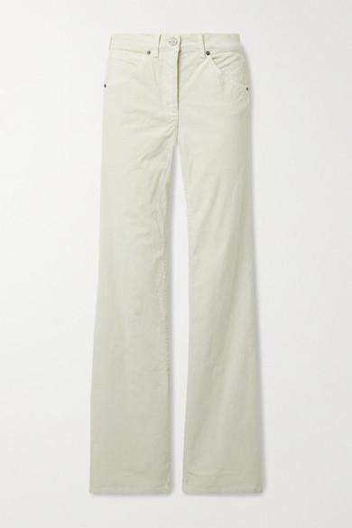 Nili Lotan - Celia 棉质混纺灯芯绒直筒裤 - 象牙色 - US6
