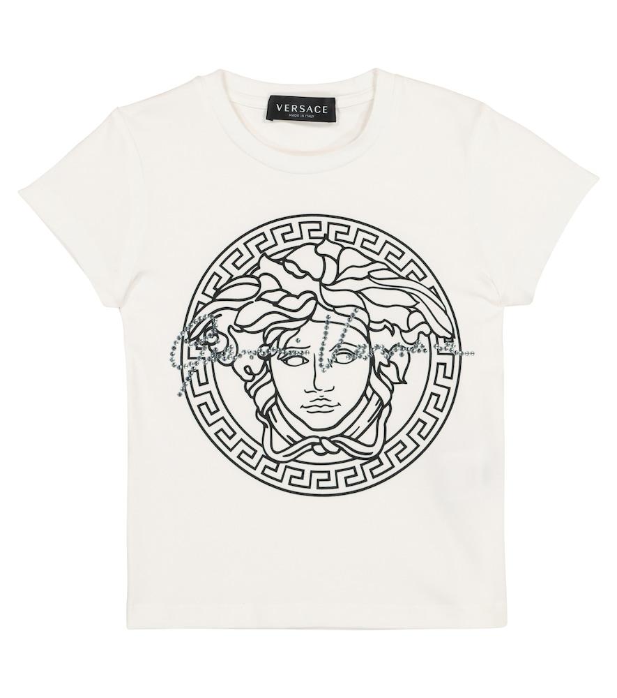 Medusa stretch-cotton T-shirt