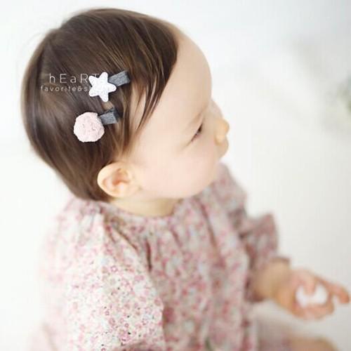 【現貨】韓國星星紗球小髮夾組 兒童髮飾 兒童髮夾 星星髮夾