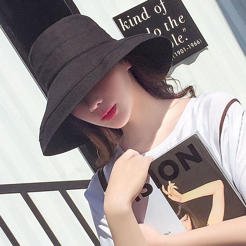 爆款 現貨 夏季防曬防曬太陽漁夫帽女夏韓版潮防紫外線日系遮臉帽子大沿時尚遮陽百搭