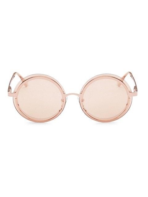 Ovation Rose Gold Circle Sunglasses
