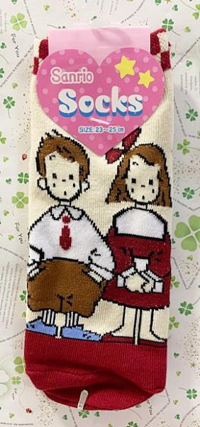 【震撼精品百貨】The Vaudeville Duo 艾帝Eddy & 艾咪Emmy~三麗鷗~襪子-紅*98990