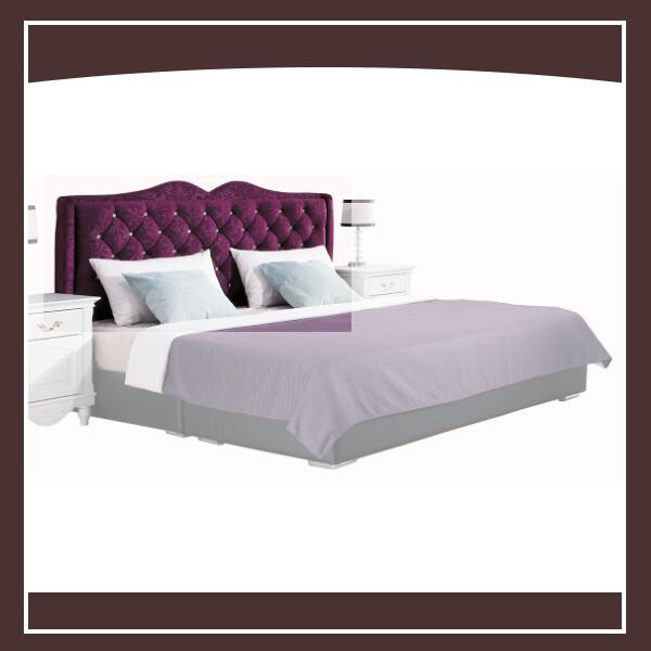 奧莉薇5尺紫色絨布床頭片 21195130007