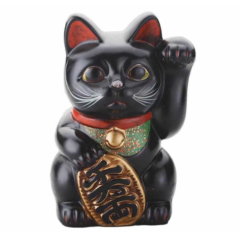 〔日本代購〕陶瓷 左手招財黑貓