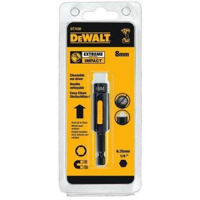 【米粒五金】美國 DEWALT 得偉 8mm 磁性可除屑套筒起子頭套筒 六角柄專利磁性起子頭套筒 DT7430-QZ
