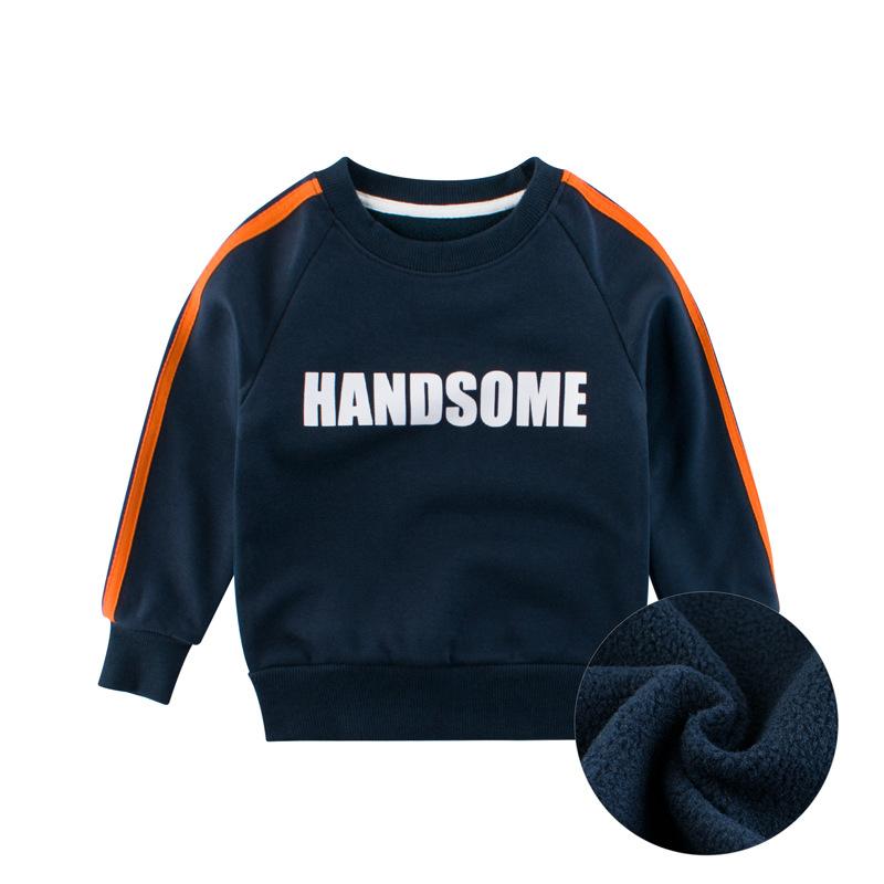 ✨27童裝✨兒童衛衣2020韓版新款時尚百搭男童上衣加絨孩子的衣服男寶休閒百搭打底衫