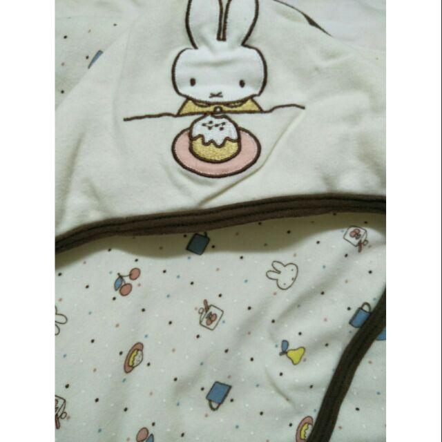 二手✋日本帶回米飛兔舖棉包巾送花媽藍色背袋