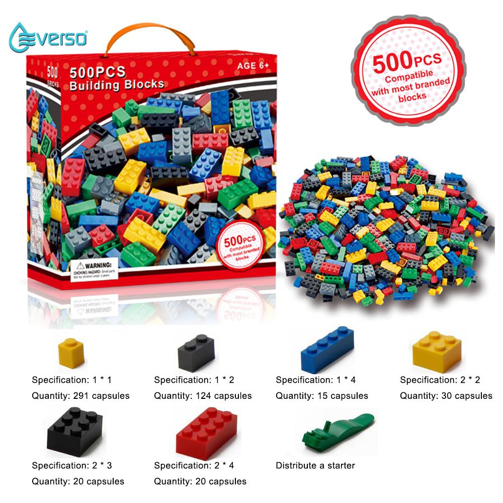 兼容樂高Everso的兒童1000PCS小型積木玩具磚塊免費分區免費早教益智積木