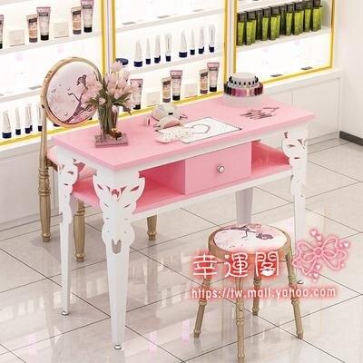 美甲桌 簡約現代雙人桌椅套裝單人小型簡易美甲桌子雙層經濟型T