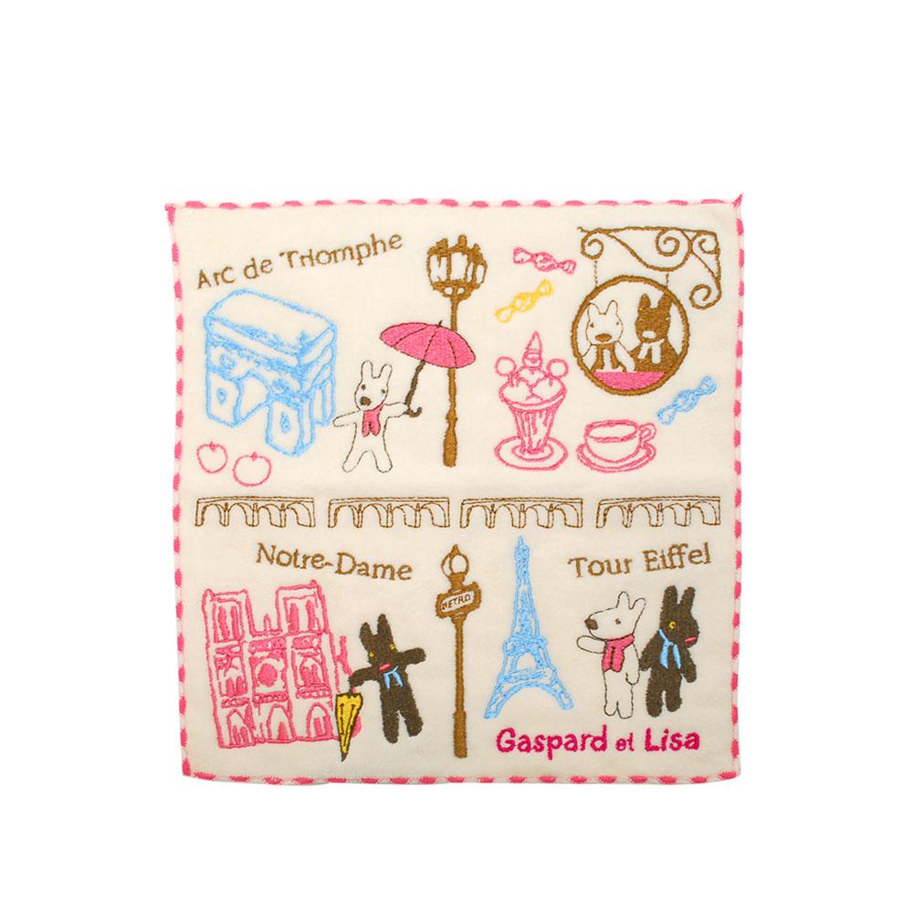 《麗莎和卡斯柏》小方巾-漫步巴黎