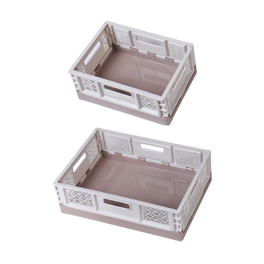 《真心良品》萊利桌上型摺疊籃(5L+10.5L)-6入組