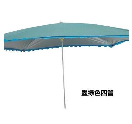 戶外遮陽傘鍍鋅鋼管中柱傘長方形太陽傘墨綠色防曬擺攤傘大號雨傘yh