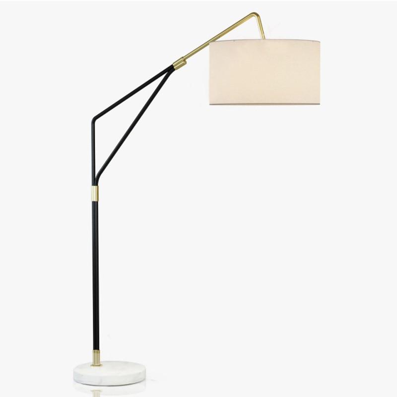 【熱銷】美式簡約現代新北歐創意設計師時尚中式臥室書房裝飾布藝落地燈