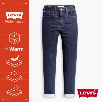 Levis 女款 高腰修身窄管牛仔長褲 WARM JEANS 機能保暖內刷毛 原色水洗