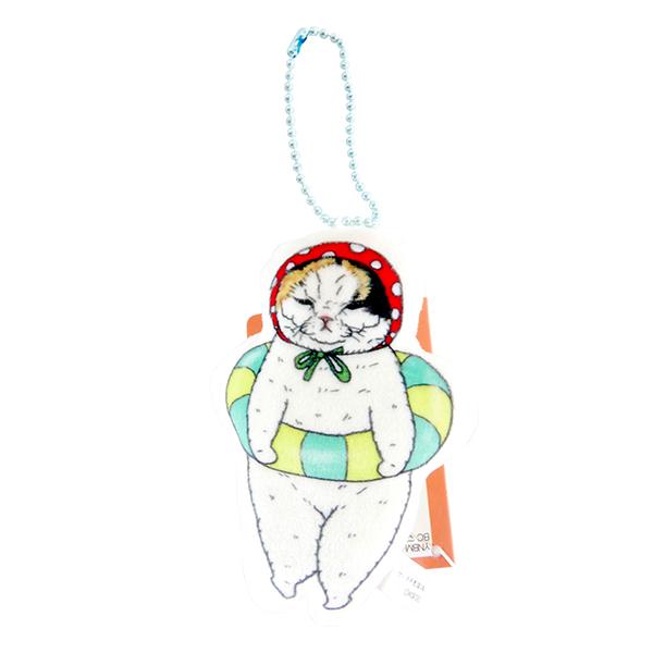 《不可思議的貓世界》絨毛吊飾-游泳