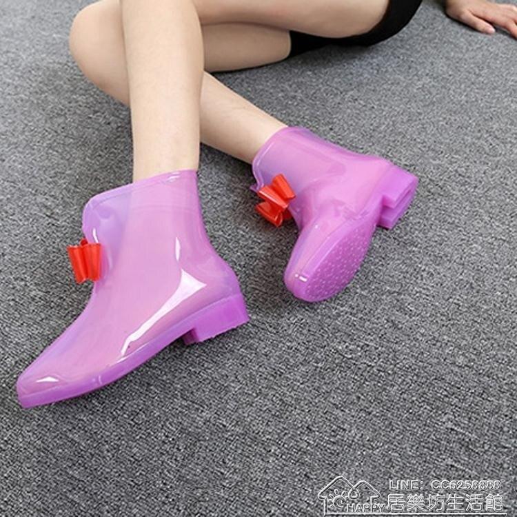 兒童雨鞋中大童女童小孩水鞋小學生透明防滑果凍短筒公主雨靴yh