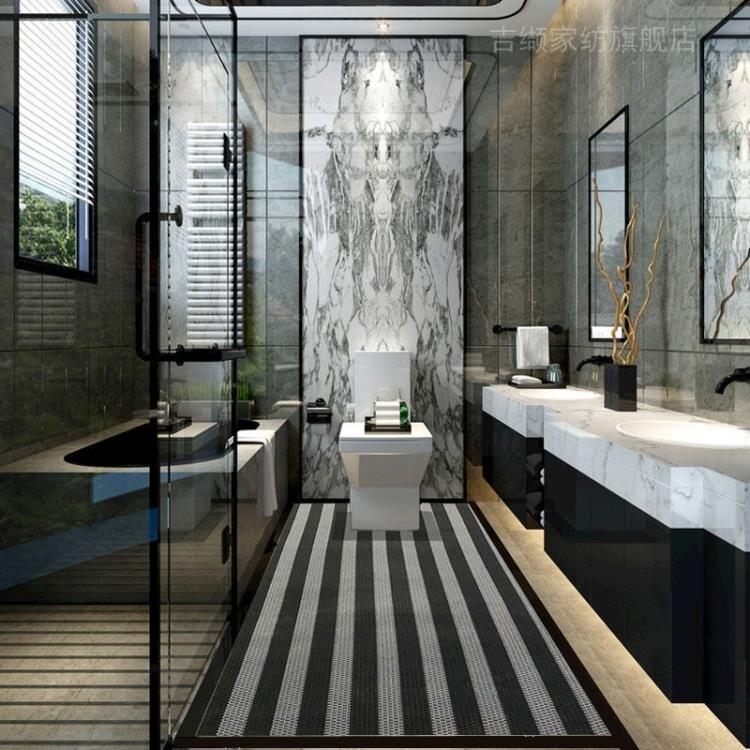 防滑垫淋浴墊浴室防滑墊淋雨洗澡腳墊定制滿鋪全鋪衛生間地墊可裁剪免洗yh