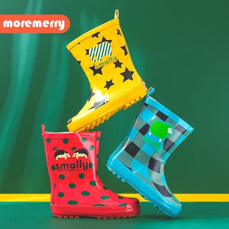 兒童雨鞋女童小學生幼兒園防滑橡膠防水中童小孩水鞋寶寶男童雨靴 伊衫風尚推薦