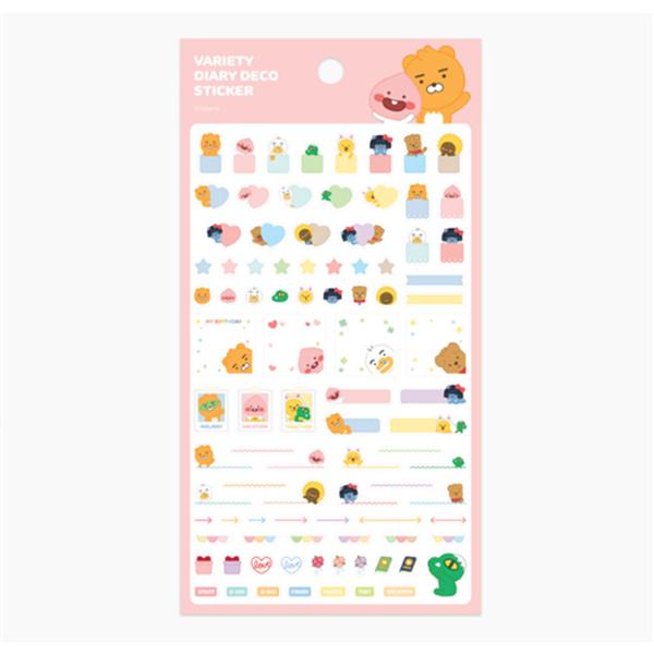 《Kakao Friends》裝飾貼紙-粉紅色