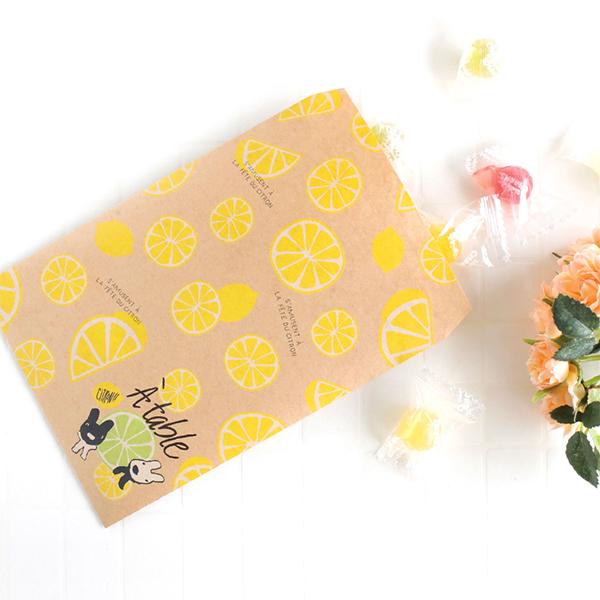 《麗莎和卡斯柏》平口紙袋5入組-Citrus