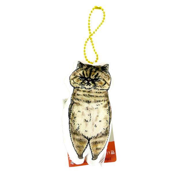 《不可思議的貓世界》絨毛吊飾-臭臉