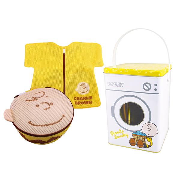 《Snoopy》鐵盒洗衣袋組合-查理布朗